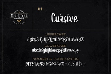 Mightype 04 Cursive Font Style