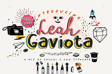 Leah Gaviota Fun Modern Script Fonts