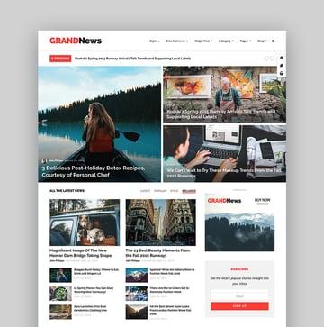 Grand News Clean Magazine WordPress Theme