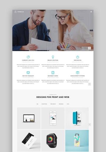 Roneous Minimal Clean WordPress Theme Design