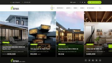 Benaa Real Estate WordPress Theme