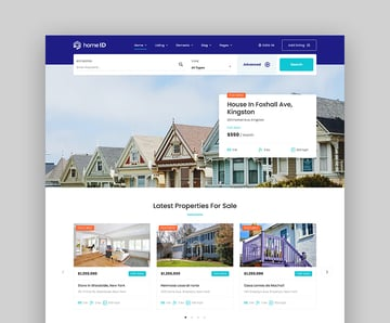 HomeID Responsive Real Estate Theme for WordPress