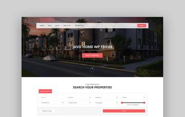 Javo Home WordPress Real Estate Theme