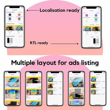 Ads Listing iPhone App Template Design