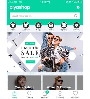 CiyaShop eCommerce iOS Template