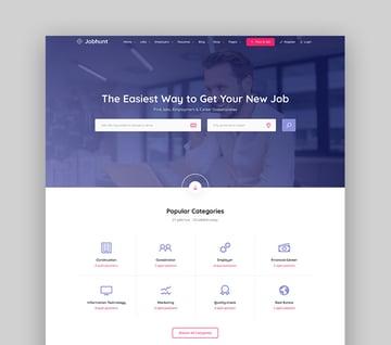 JobHunt Attractive WordPress Job Search Theme