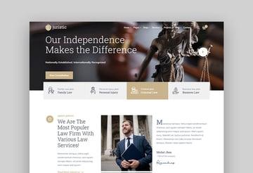 Juristic legal wordpress theme