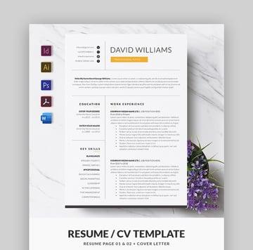 Minimal Adobe Photoshop Resume Template