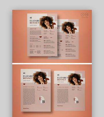 Stylish Photoshop Resume PSD