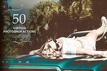 Vintage Photo Effect Photoshop Action Pack Download