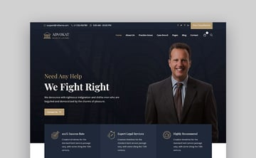 Advokat HTML Lawyer and Law Firm Website Template