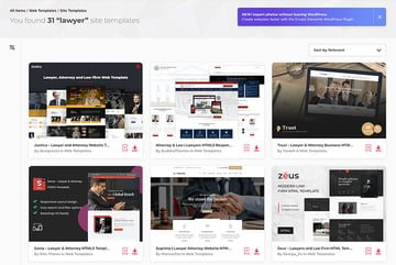 Premium HTML Lawyer Website Templates From Envato Elements 2021