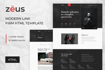 Zeus Responsive HTML Lawyer Template
