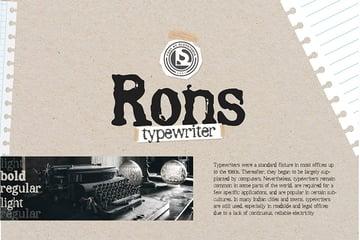 RONS Bold Typewriter Font