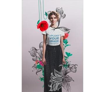 Hand Drawn Illustrations T-Shirt Mockup