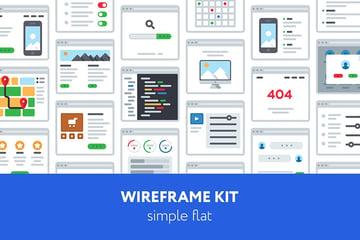 UX Wireframe Templates Illustrator Kit