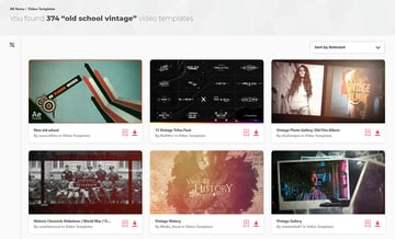 Old School Vintage Video Templates Envato Elements