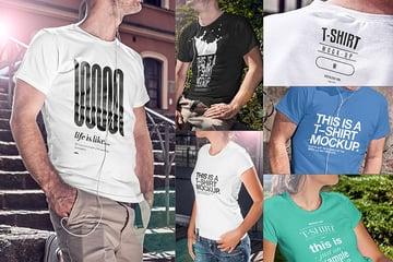 T Shirt Mockup Template Bundle Download