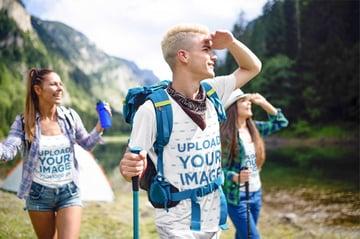 T-Shirt Mockup Maker of Hiking Group
