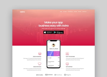 Astra App Landing Page