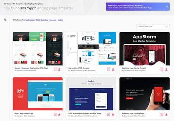 Envato Elements App Landing Page Examples