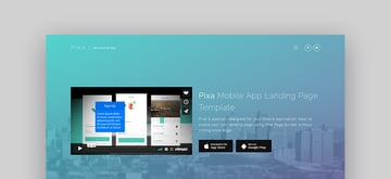 Pixa App Landing Page Template