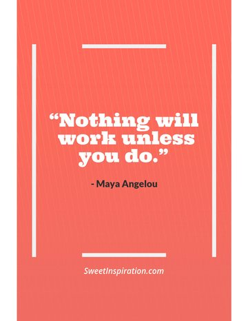 Pinterest Pin Maker Template for Quotes