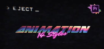 Complete 80s Title Toolkit Text Maker Premiere Pro