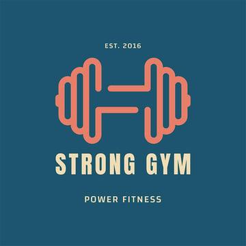 Power Fitness Gym Online Logo Generator