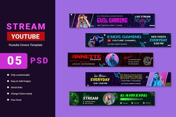YouTube Channel Art Gaming