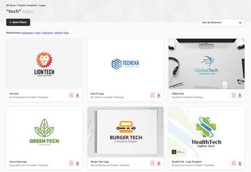 Envato Elements Modern Tech Logo Templates