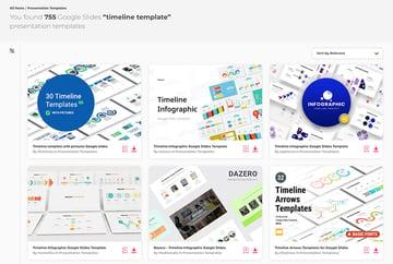 Envato Elements Google Slides Timeline Templates