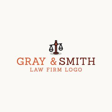 Simple Law Office Logo Online Generator