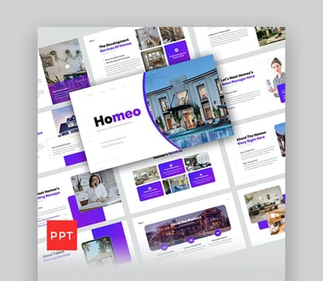 Homeo Real Estate PowerPoint Presentation Template