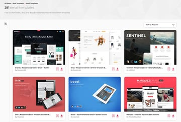 Premium Email Templates on Envato Elements - with unlimited access