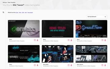 Premium Neon Effects Premiere Pro Envato Elements
