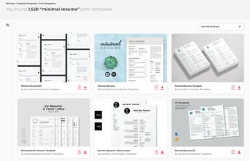 Minimalist Modern Resume Template Designs From Envato Elements