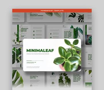 Minimaleaf Plant PowerPoint Template
