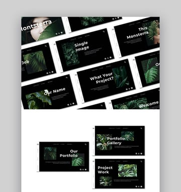 Monsterra Nature PowerPoint PPT Template