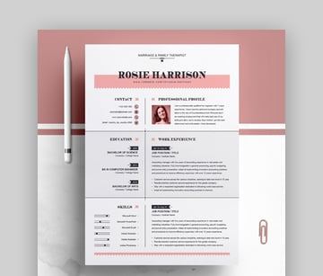 Modern Pages CV Template