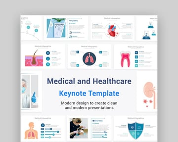 Medical and Healthcare Keynote Infographics Pack Template