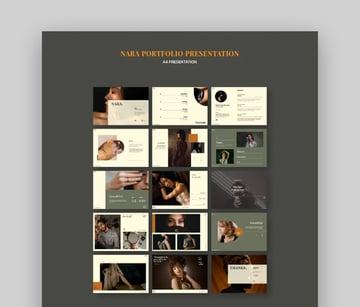 Nara Cool CV PowerPoint Template