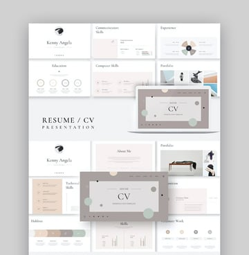 Resume CV PowerPoint Presentation Template