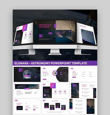 Elonara Astronomy Research Paper PowerPoint Presentation Template