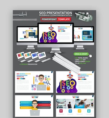 SEO Research Presentation PowerPoint Template