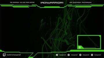Twitch Overlay Maker With a Futuristic Panel Look