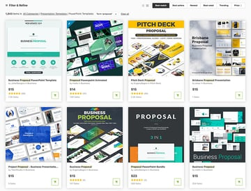 Get PowerPoint business templates for one-off use on GraphicRiver