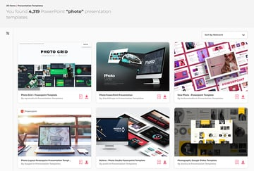 PowerPoint picture templates on Envato Elements