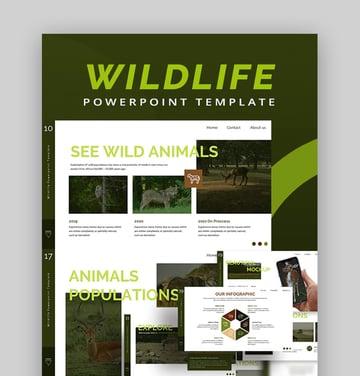 Wildlife Digital PPT photo album template