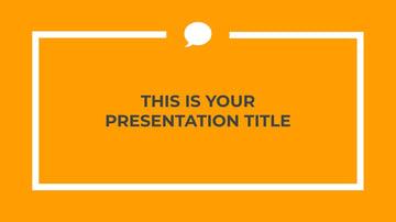 Orange Professional Free Google Slides Templates Minimalist